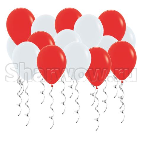 Воздушные шары под потолок Красный и белый