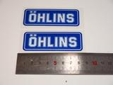Наклейки для амортизатора Ohlins пара 8см бело-синие