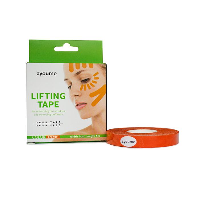 Новое Тейп для лица оранжевый AYOUME Kinesiology tape roll  1см*5м 6035336301.jpg