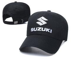 Модная бейсболка с вышивкой Сузуки (Кепка Suzuki) черная