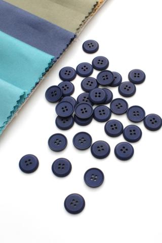 Пуговица,пластик,синий,15 мм