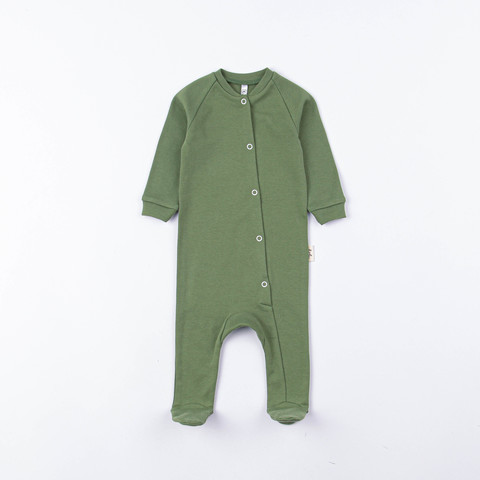 Sleepsuit with snap buttons 0+, Olive