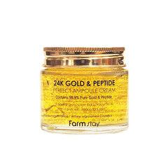 Ампульный крем с золотом и пептидами FarmStay, 80мл