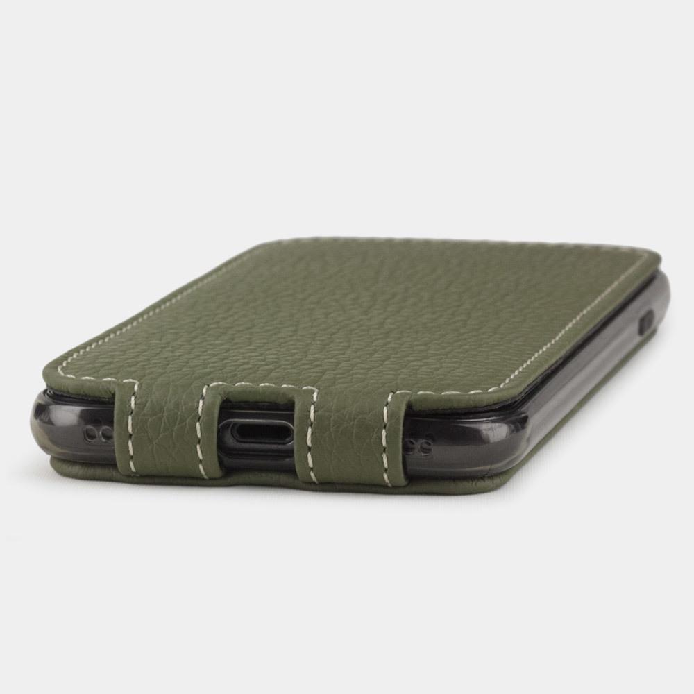 Чехол для iPhone SE/8 из натуральной кожи теленка, зеленого цвета