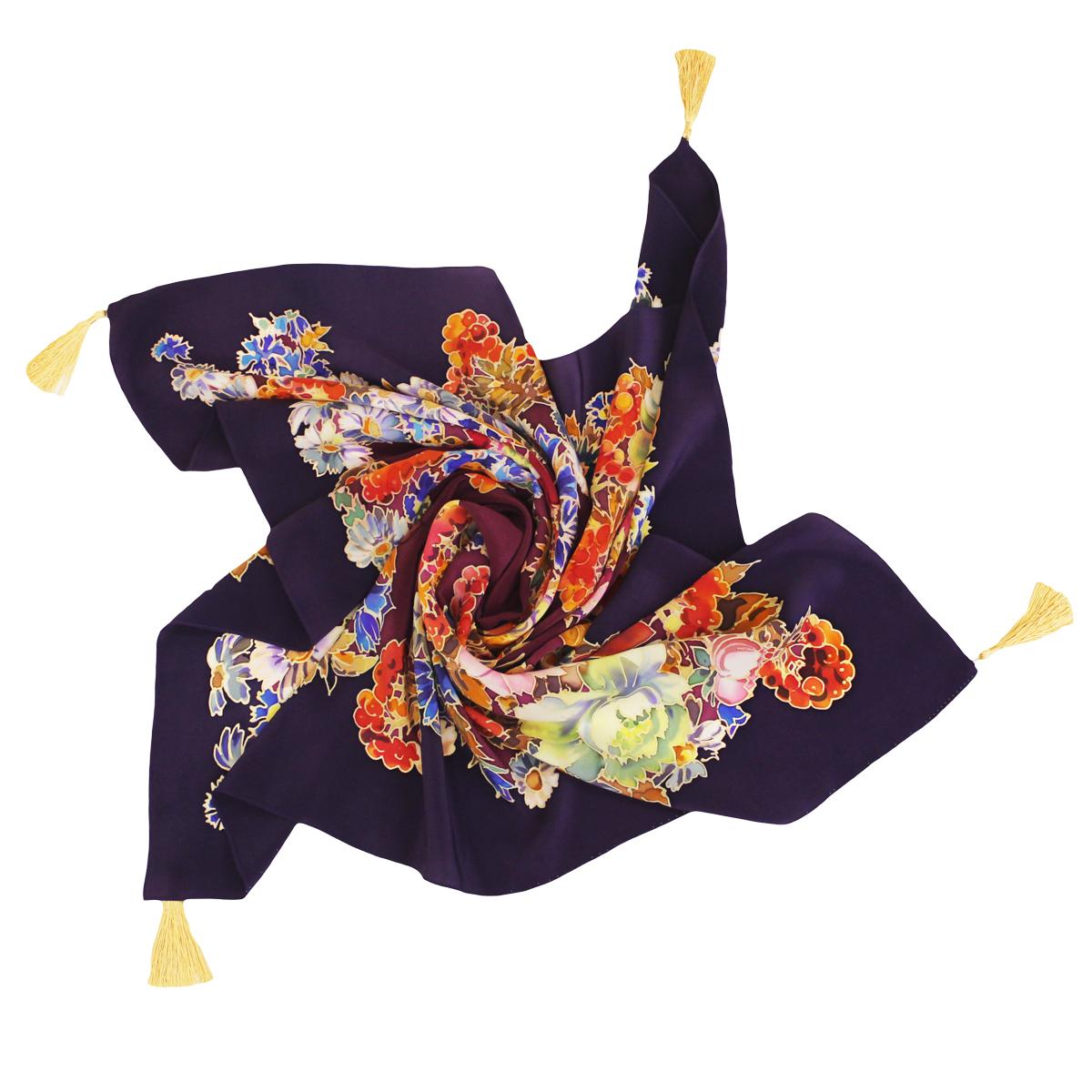 Шёлковый платок Рябина C-61