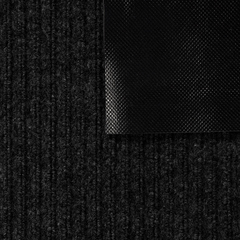 Коврик влаговпитывающий, ребристый, черный, 60*90 см