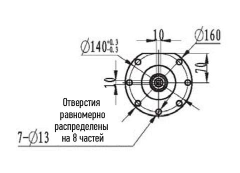 Компактная электрическая лебедка IDJ23-25-58-14