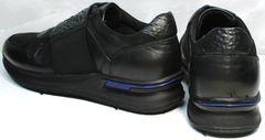 Кроссовки с черной подошвой мужские Luciano Bellini 1087 All Black