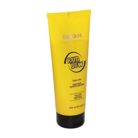 Kapous Professional Краситель прямого действия для волос «Rainbow», Желтый, 200 мл