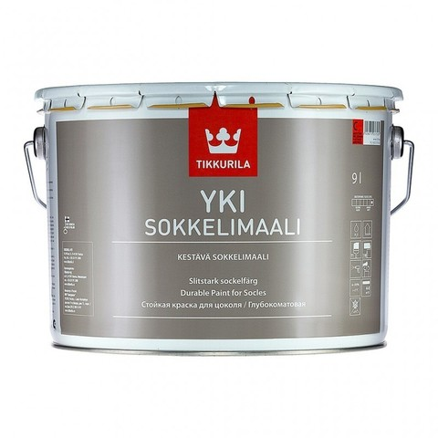 Tikkurila Yki / Тиккурила Юки щелочностойкая краска для цоколя