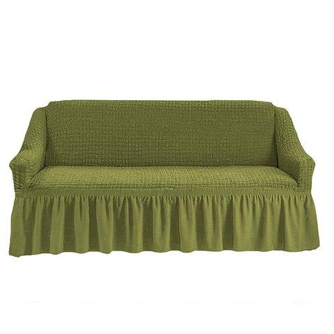 Чехол на трехместный диван, олива