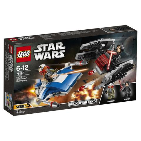 LEGO Star Wars: Истребитель типа A против бесшумного истребителя СИД 75196 — A-Wing vs. TIE Silencer Microfighters — Лего Звездные войны Стар Ворз