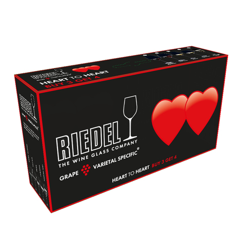 Набор из 4-х бокалов для вина Riesling Pay 3 Get 4 460 мл, артикул 5409/05. Серия Heart To Heart