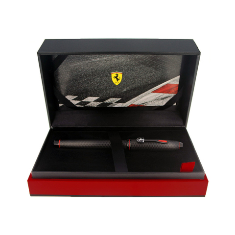 Cross Selectip Townsend - Ferrari Brushed Black Etched Honeycomb Pattern/Black PVD, ручка-роллер123