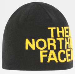 Шапка двухсторонняя The North Face Reversible Tnf Banner Beanie Tnf черный/желтый
