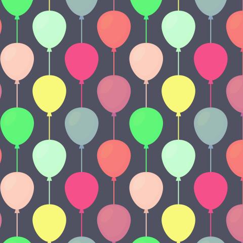 Air balloons seamless pattern.