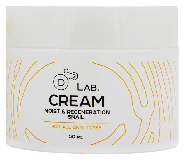 Увлажняющий регенерирующий крем с муцином улитки D2 LAB Cream Moist & Regeneration Snail