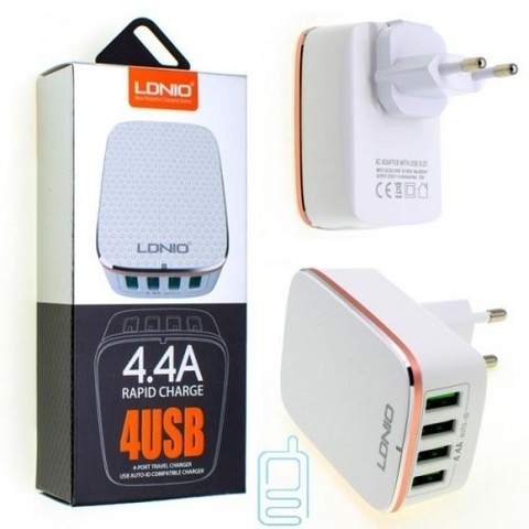 Сетевое зарядное устройство 4 USB 4.4A LDNIO A4404