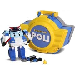 Robocar Poli Кейс с трансформером Поли 12,5 см и с гаражом (83072)