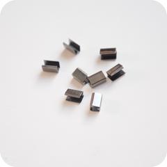Зажим соединитель 9*4*5мм, темное серебро