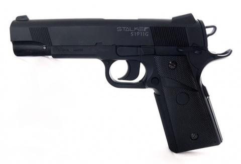 Пистолет пневматический Stalker S1911G (Colt 1911, пластик) 120 м/с