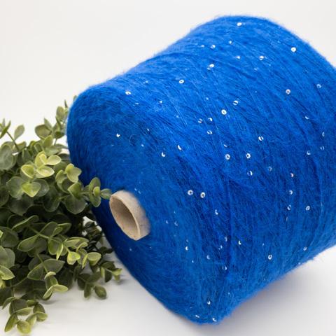 Кидмохер с пайетками LAGOPOLANE Kidpai 400 синий электрик с голографическими  пайетками
