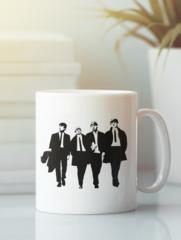 Кружка с изображением Битлз (The Beatles) белая 008