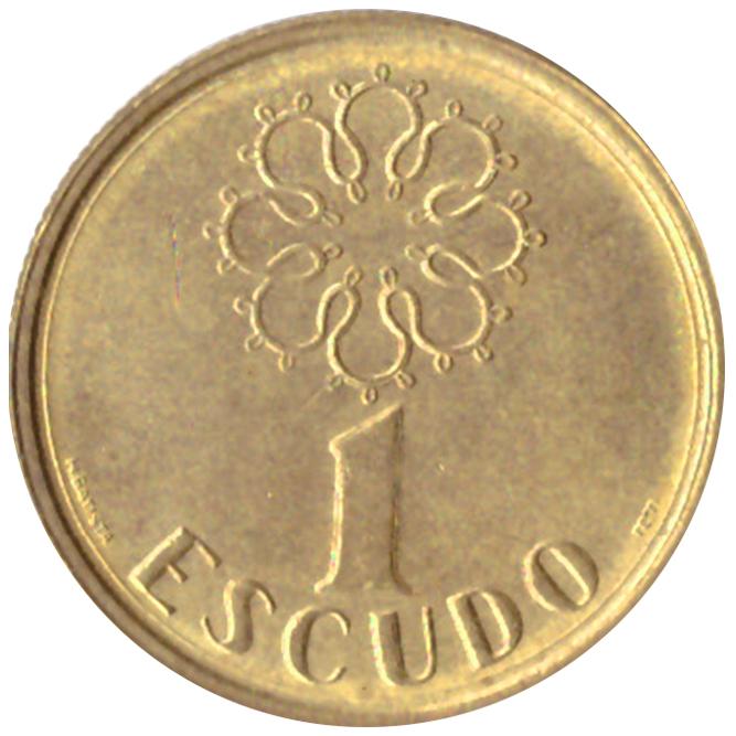 1 эскудо 1996 год, Португалия. aUNC