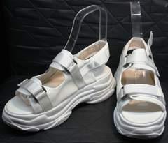 Спортивные босоножки на платформе Small Swan PM23-3 White.