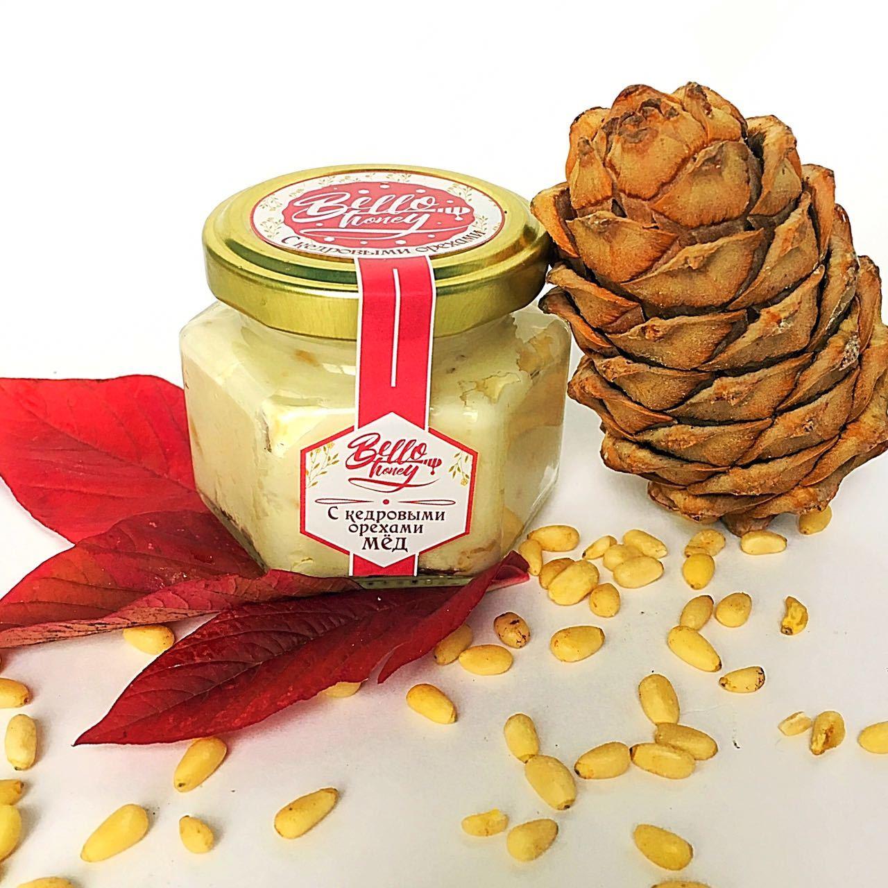 Bellohoney крем-мёд с кедровыми орехами