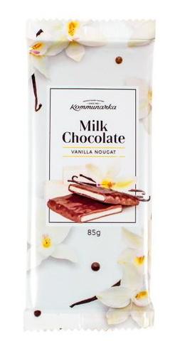 Шоколад молочный с ванильной нугой