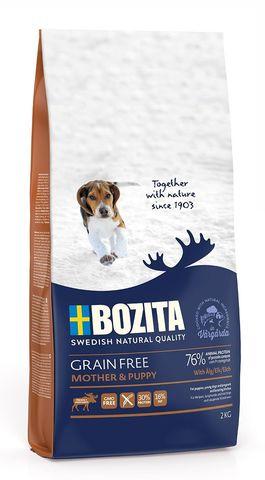 Bozita Grain Free Mother & Puppy Elk 30/16 Сухой корм для щенков и юниоров, беременных и кормящих сук всех пород с мясом лося (беззерновой)