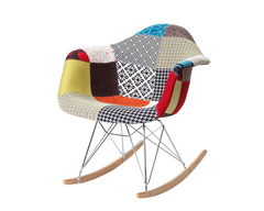 стул Eames RAR Rocking Patchwork