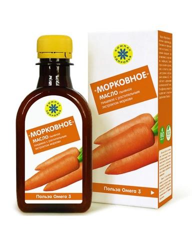 Компас здоровья масло льняное с экстрактами моркови 200 мл
