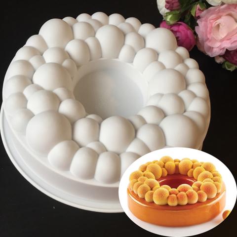 Силиконовая форма для выпечки Кольцо с пузырьками торт (D-23 см.)