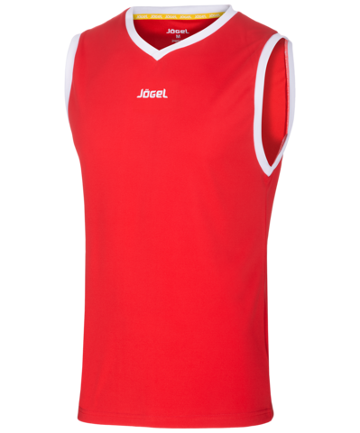 Майка баскетбольная JBT-1020-021, красный/белый, детская
