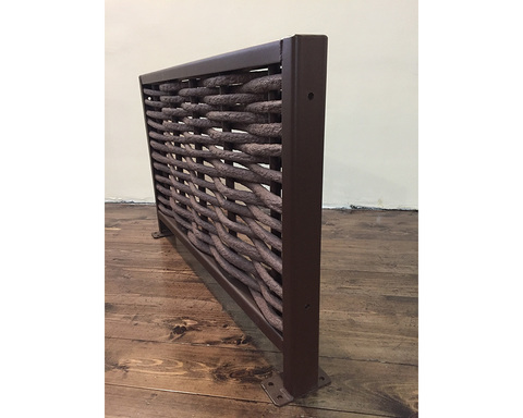 Плетеный забор из ротанга большой 200x200см