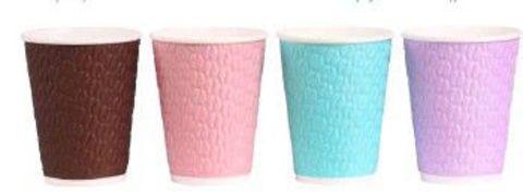 Бумажный стакан 400/473мл NDW16 Кофейные зерна 4 цвета 2 сл.гор. напитков