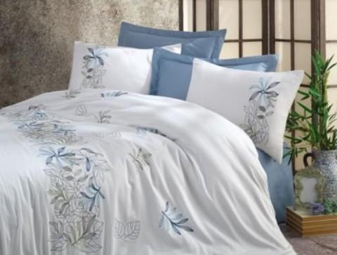 Комплект постельного белья DANTELA VITA сатин с вышивкой Евро BAHAR