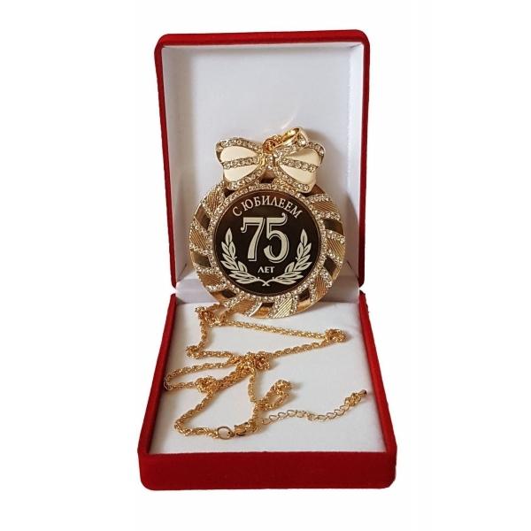 Медаль с Юбилеем 75 лет стразы
