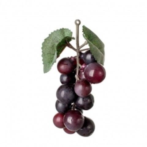 Виноград искусственный 14см, чёрный