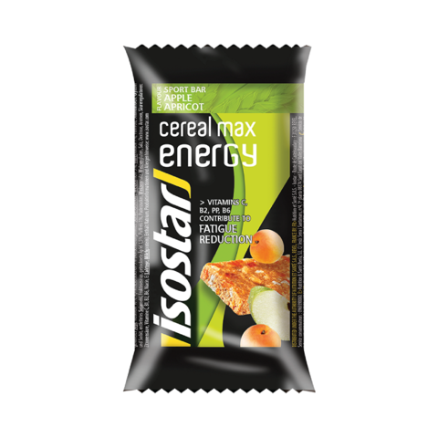 Энергетический батончик Isostar Cereal Max Energy яблоко-абрикос 55g