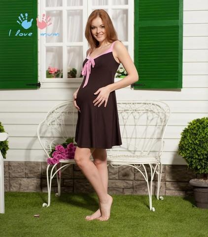 Сарафан Летний шоколадный для беременных