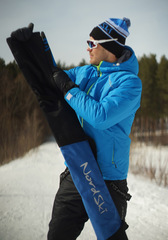 Чехол для беговых лыж Nordski Black-Blue на 3 пары до 210 см