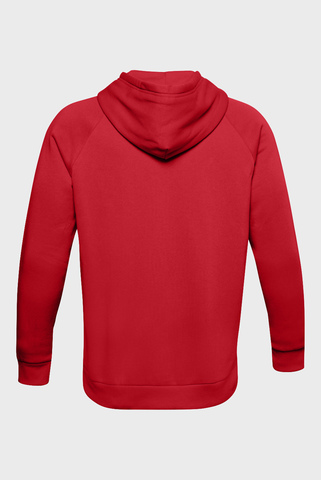 Мужское красное худи UA Rival Fleece Big Logo HD Under Armour