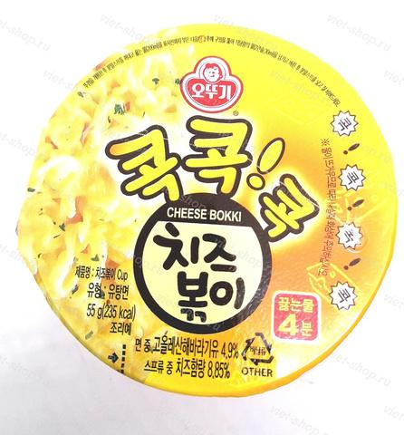 Корейская пшеничная лапша (спагетти) со вкусом сыра,Оттоги (Ottogi), 55 гр.