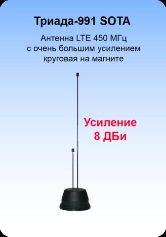 МА-991 SOTA/antenna.ru. Антенна LTE 450 МГц круговая на магните с большим усилением