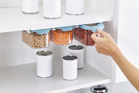 Набор из 3 подвесных контейнеров для хранения CupboardStore 900 мл светлый опал