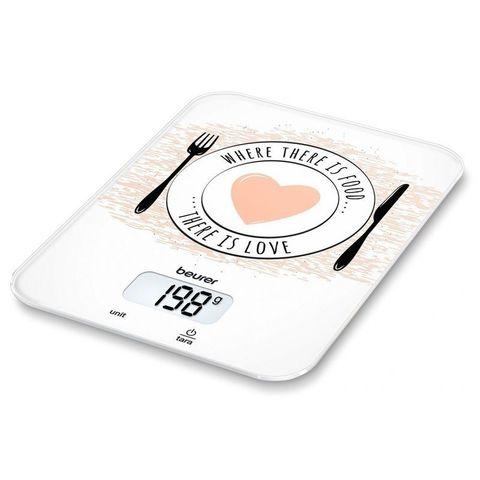 Весы кухонные электронные Beurer (B-KS19LO) Love макс.вес:5кг рисунок