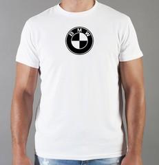 Футболка с принтом BMW (БМВ) белая 005